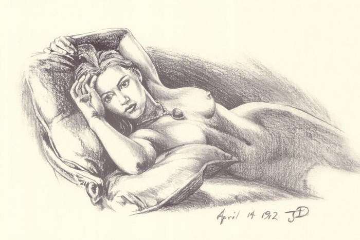 Кейт Уинслет на самом деле рисовал Джеймс Кэмерон.   Фото: s.libertaddigital.com.