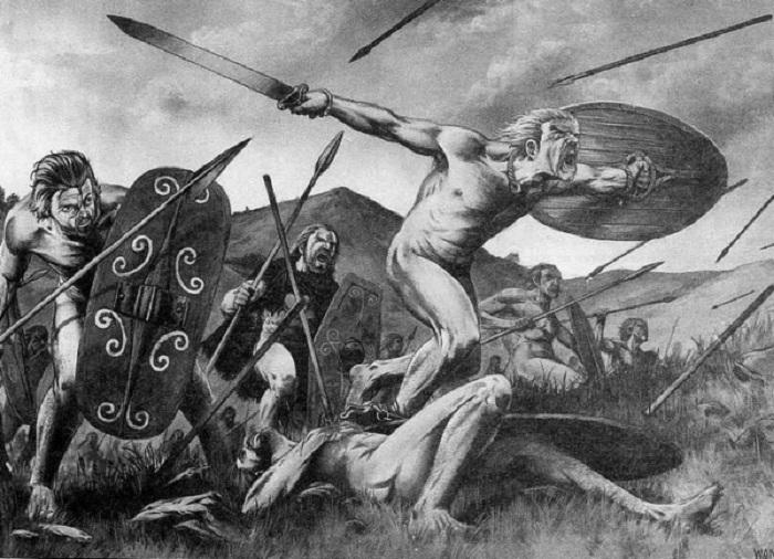 В боях шотландцы могли скидывать килты для удобства. | Фото: diletant.media.