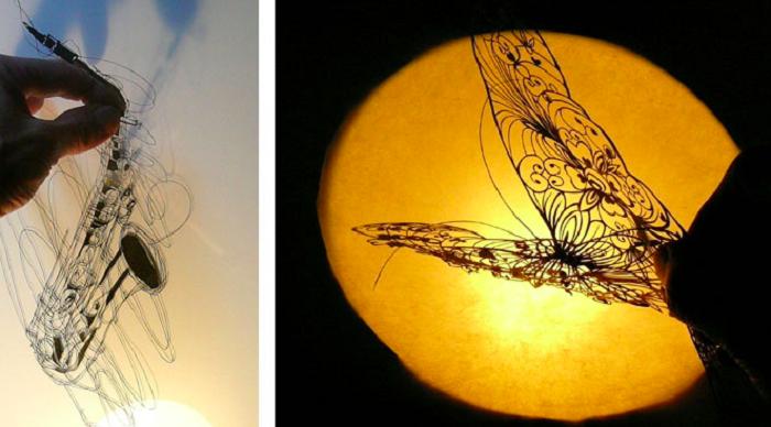 Kirie - японское искусство виртуозного вырезания произведений из бумаги.