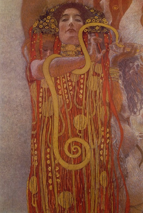 Гигиея. Фрагмент картины «Медицина». Густав Климт.   Фото: mymodernmet.