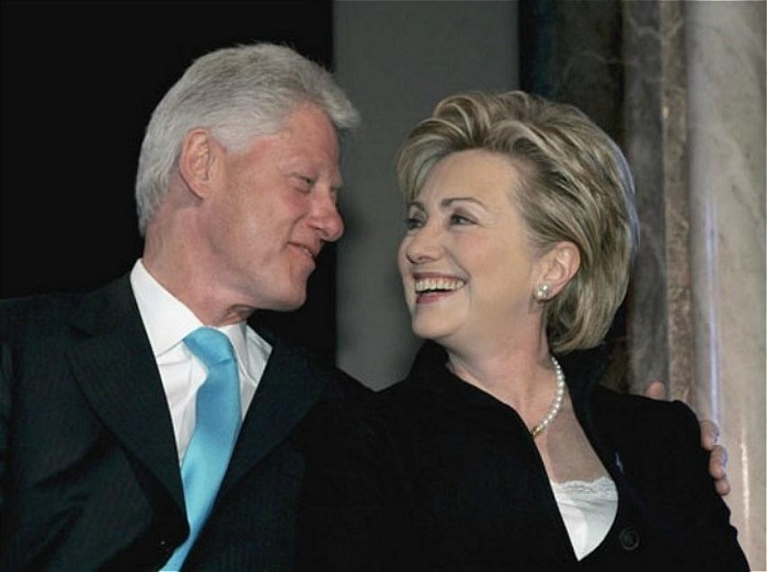 Билл и Хилари Клинтон.