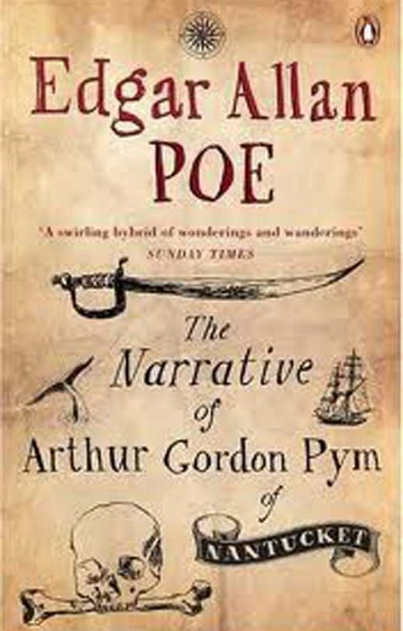 Обложка книги Э. По «Повесть о приключениях Артура Гордона Пима». | Фото: mediaharian.my.