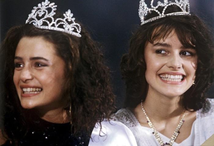 Маша Калинина (справа) - победительница конкурса «Московская красавица 1988».