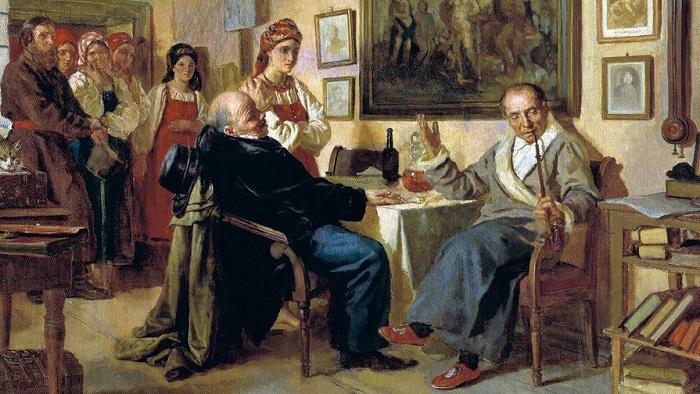 Торг. Сцена из крепостного быта. Н. Неврев, 1866 год. | Фото: sb.by.
