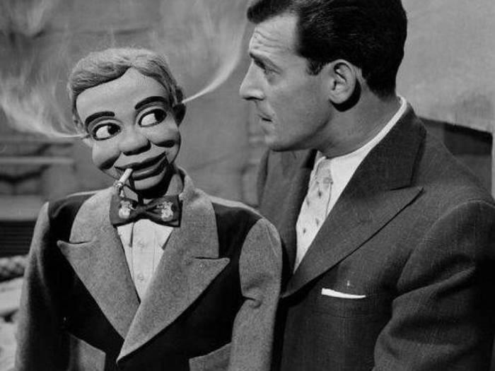 Чревовещатель Великий Лестер и его кукла Фрэнк Лестер-младший. | Фото: allday.com.