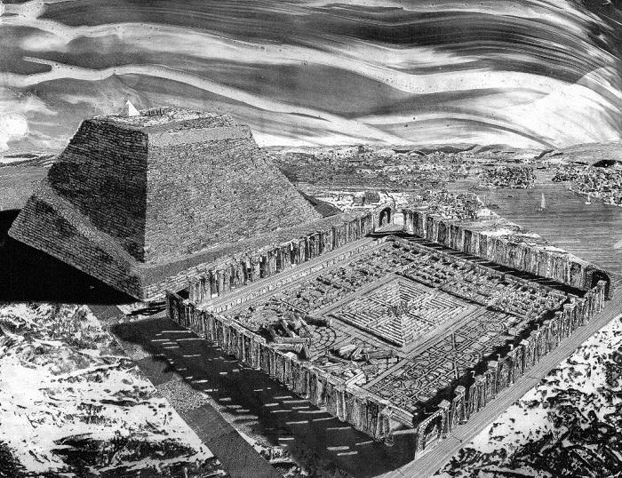 Египетский лабиринт, построенный в 2300 году до н. э. | Фото: news.hitsad.ru.