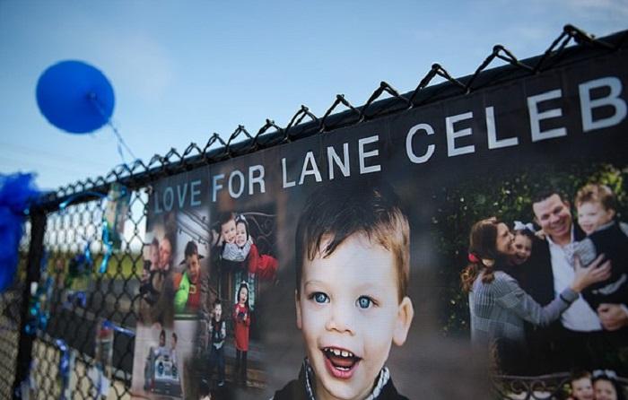 Плакат, посвященный погибшему 2-летнему малышу. | Фото: dailymail.co.uk.