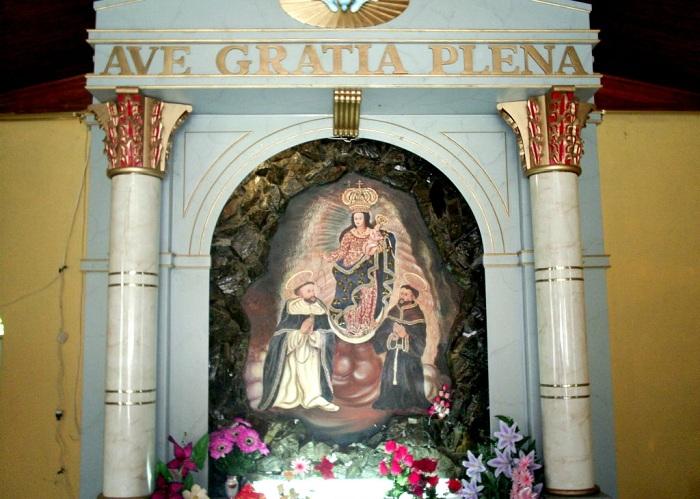 Икона на камне в соборе Лас-Лахас. | Фото: masterok.livejournal.com.