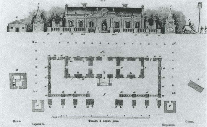 План Ледяного дома Анны Иоанновны.| Фото: litmir.me.