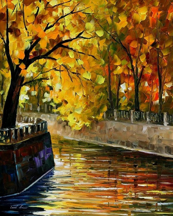 Золотая осень от белорусского художника.