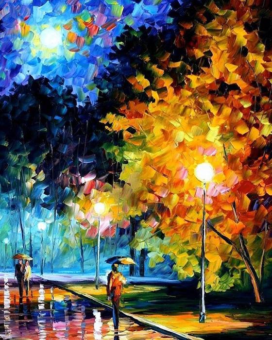 Позитивные полотна от Леонида Афремова.