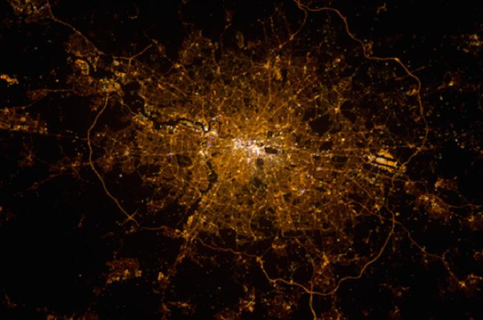 Изображение Лондона со спутника.