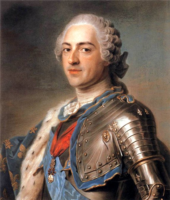 Король Франции Людовик XV. Морис Кантен де Латур, 1748 год. | Фото: liveinternet.ru.