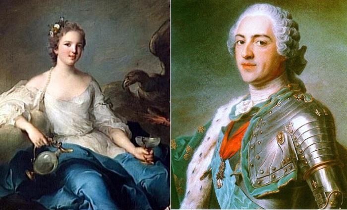 Герцогиня де Шатору и Людовик XV.