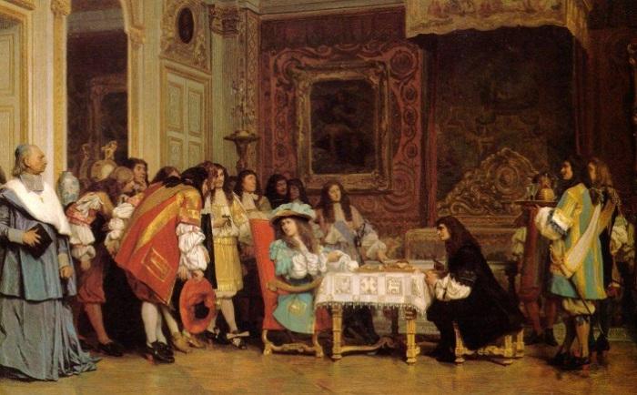 Мольер у Людовика XIV. Жером Жан-Леон, 1863 год. | Фото: artist-gallery.ru.