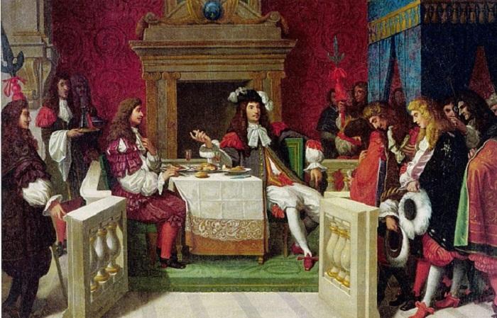 Мольер ужинает с Людовиком XIV. Жан Огюст Доминик Энгр, 1857 год.   Фото: st03.kakprosto.ru.