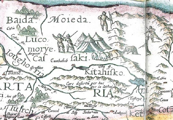 Древняя карта с изображением Лукоморья.