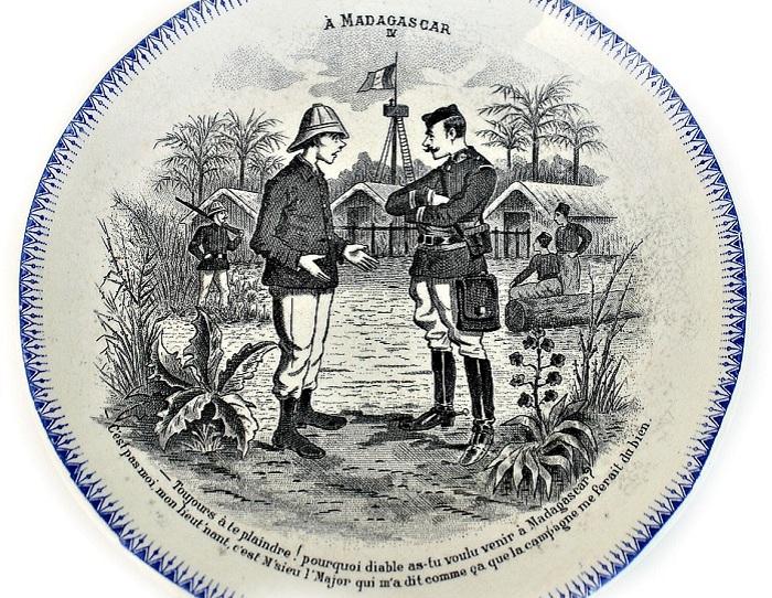 Сувенирная тарелка середины XIX века. | Фото: аpril-knows.ru.