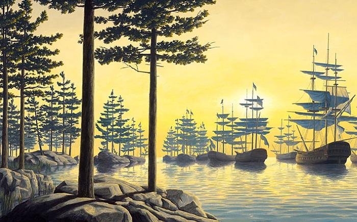 Оптическая иллюзия от художника Robert Gonsalves.