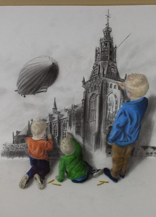 Трехмерный рисунок от Ramon Bruin.
