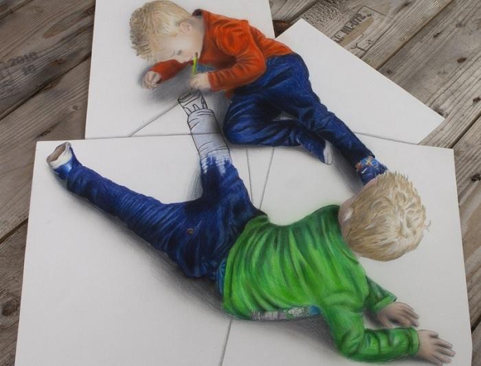 3D-рисунок. Удивительная работа Рамона Брюина.