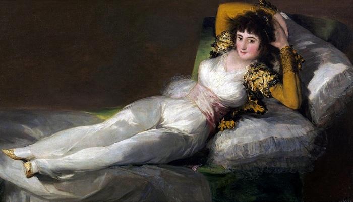 Маха одетая, 1798 - 1805 гг. Предположительно моделью для этой картины стала Каэтана Альба. | Фото: bt.kiev.ua.