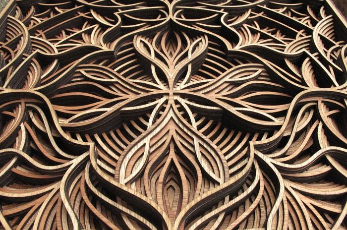 Многослойные узоры, выполненные художником Gabriel Schama.
