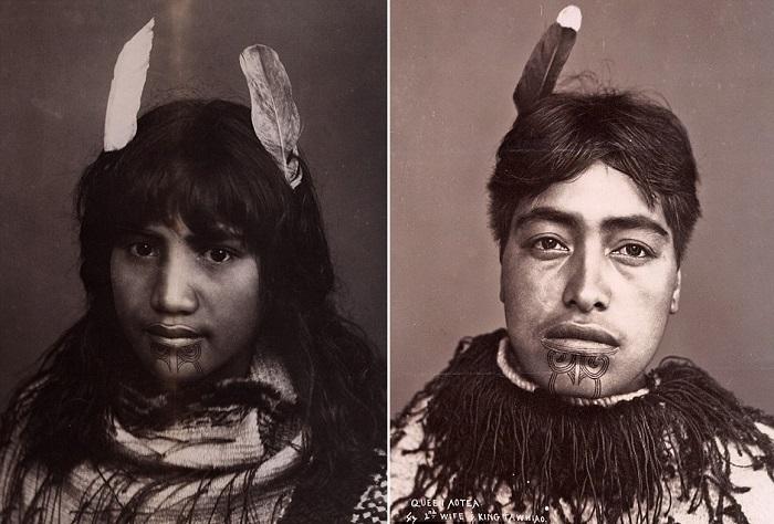 Жены вождей маори. | Фото: dailymail.co.uk.