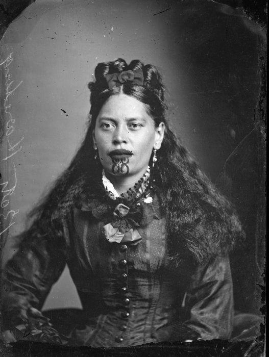 Коренная жительница Новой Зеландии, конец 1870-х гг. | Фото: flashbak.com.