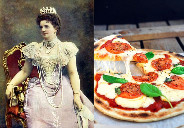 Королева Италии Маргарита Савойская и названная в ее честь пицца.
