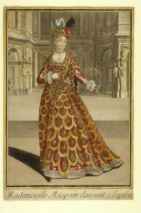 Мадемуазель Мопен в Опере. Гравюра неизвестного автора. Ок. 1700. | Фото: fscclub.com.
