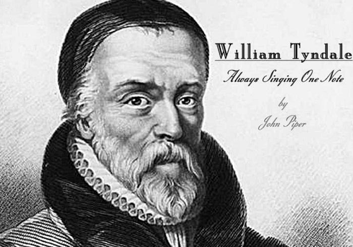 William Tyndale - философ-гуманист, переведший библию на английский язык.