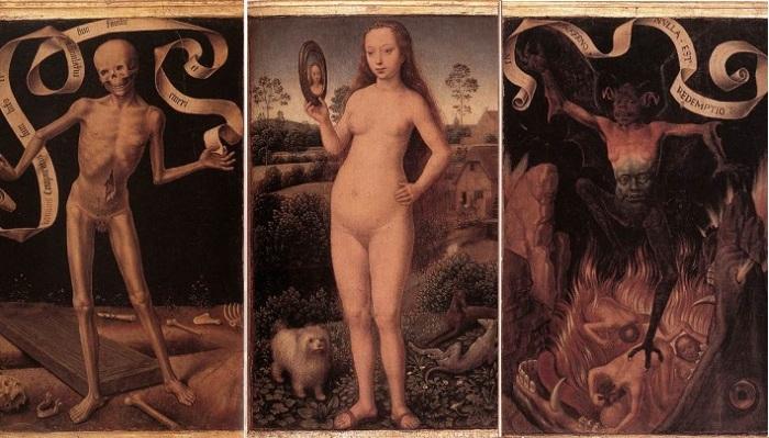 Триптих «Суета земная». Г. Мемлинг, 1485 год. | Фото: wga.hu.