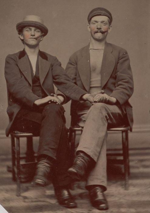 Броманс между мужчинами викторианской эпохи, 1880-е гг. | Фото: mashable.com.