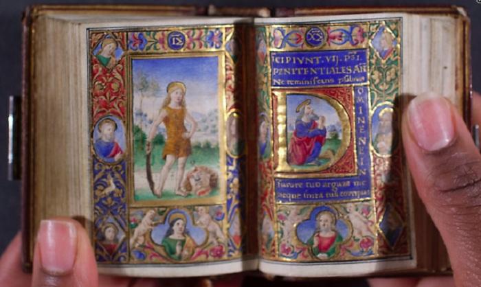 Миниатюрный часослов, XV век. | Фото: medievalfragments.wordpress.com.
