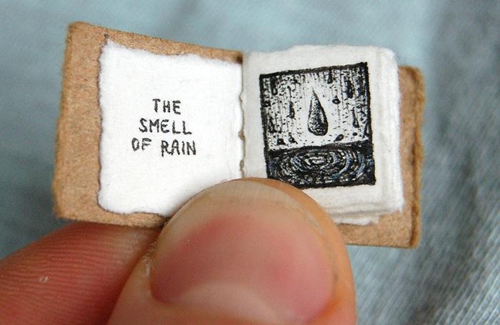 Надпись на картинке: «Запах дождя».