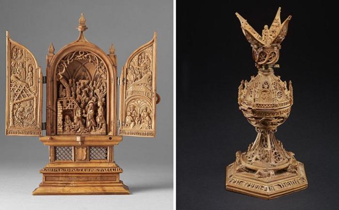 Миниатюра, вырезанная из дерева голландскими мастерами.