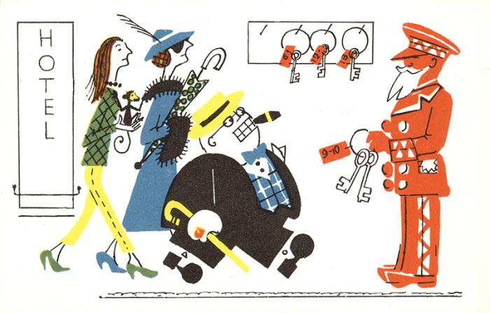 Карикатура на иностранных туристов. | Фото: img-fotki.yandex.ru.