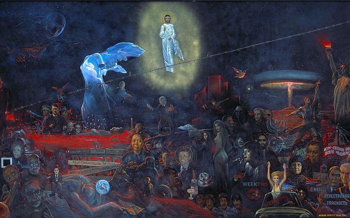 «Мистерия ХХ века» (1978 г). Фрагмент. Апокалипсис, к которому человечество привело планету за последние 100 лет. | Фото: i.artfile.me.
