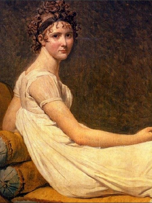Портрет мадам Рекамье. Жак Луи Давид, 1800 год. | Фото: storyfiles.blogspot.com.