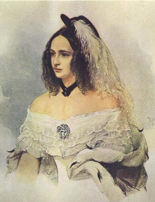 Наталья Николаевна Гончарова. В Гау, 1842-1843 гг. | Фото: ru4.anyfad.com.