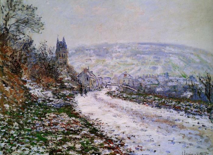Въезд в деревню Ветхойль зимой. | Фото: fiveminutehistory.com.