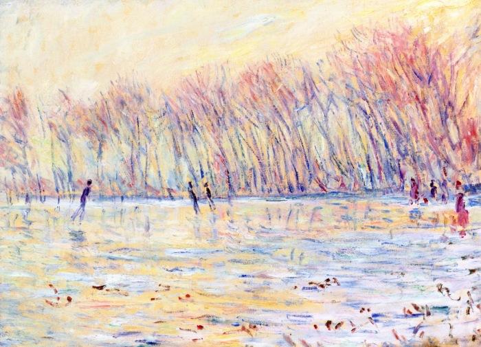 Конькобежцы в Живерни. Клод Моне, 1899 год. | Фото: fiveminutehistory.com.