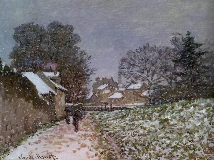 Снег в Аржантее. Клод Моне, 1874-1875 гг.   Фото: fiveminutehistory.com.