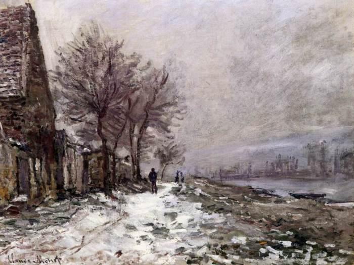Лавакур зимой. Клод Моне, 1879 год. | Фото: fiveminutehistory.com.