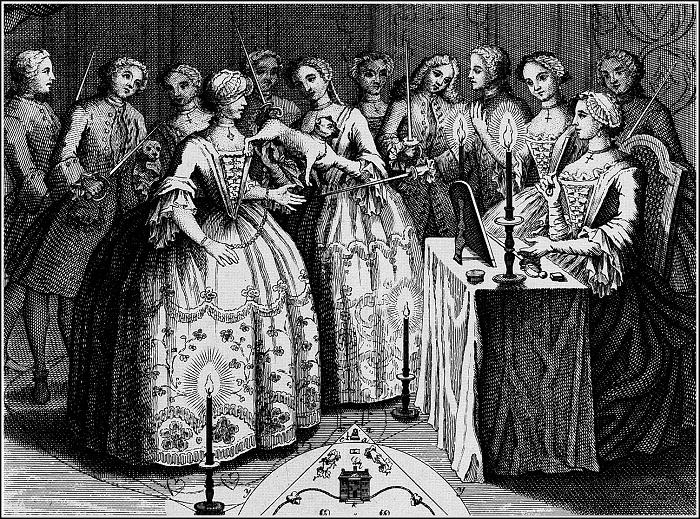 Орден Мопса. Гравюра, 1745 год. | Фото: n-dank.livejournal.com.