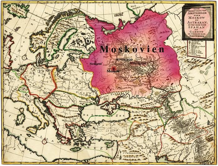 Карта Московии. | Фото: bemuz.ru.