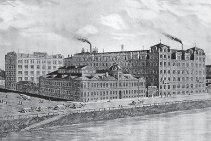 Фабрика «Товарищества Эйнемъ», 1880-е годы. | Фото: little-histories.org.
