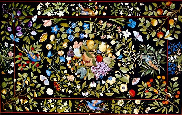 Флорентийская мозаика из камня. | Фото: liveinternet.ru.
