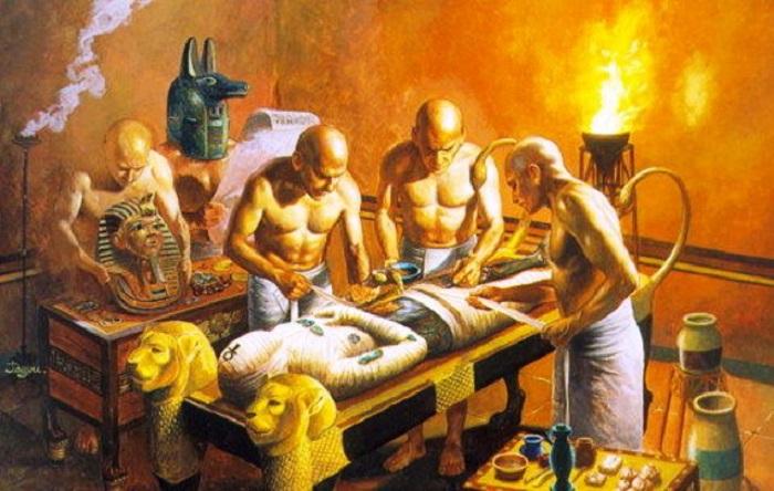 Ритуал мумификации в Древнем Египте. | Фото: allclip.net.